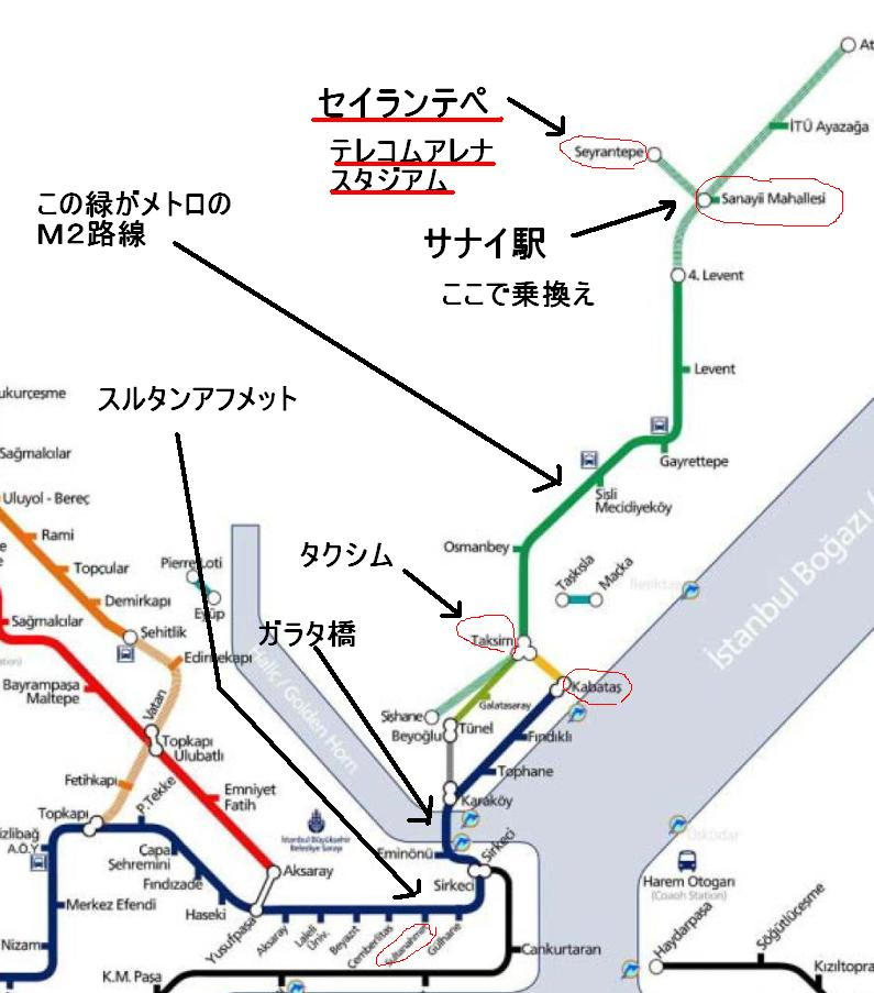 ガラタサライ新スタジアム地図