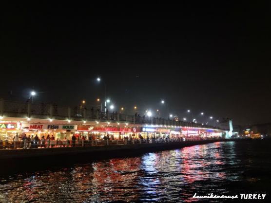トルコ夜ガラタ橋
